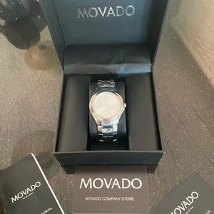 Men's Movado silver watch
